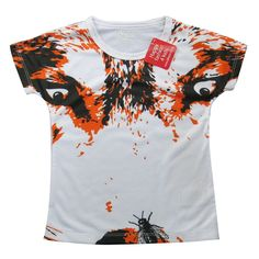 3D Wolf and a fly - Boys T shirt