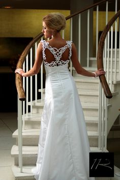 Bridge In Time  Tatted Back Wedding Dress by OnlybyFAITH on Etsy, $600.00