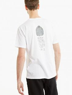 """Stone Island White Printed Cotton T-Shirt The Stone Island Printed Cotton T-Shirt for SS17, seen here in white. - - Crafted from premium cotton and cut to offer a relaxed fit, this t-shirt from Stone Island features an archival style """" in thi http://www.MightGet.com/january-2017-13/stone-island-white-printed-cotton-t-shirt.asp"""