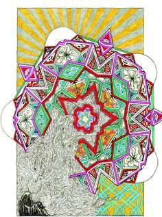 Painting Mandala Geometry Mathematical by CelticMandala on Etsy