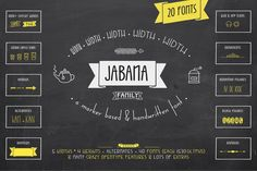 Jabana 75% OFF - Complete Pack by Nils Types on Creative Market