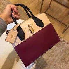 Louis Vuitton City Steamer PM Bag M42620 Bordeaux Beige
