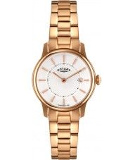Ladies Rotary Ladies Timepieces Locarno Rose Gold Steel Watch 172.02 Watches2U