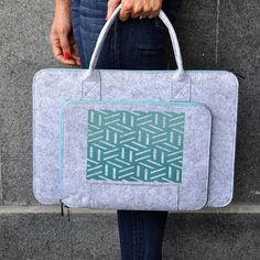 Laptop briefcase, Laptop bag 15 inch, Cute laptop sleeve, 15 inch macbook, Macbook pro 15, Notebook case, Grey Macbook bag, Macbook pouch #fashion #fashionblogger #bags #boho #bohostyle #tote #totebag #style #styleblogger #fashionista #sleeve