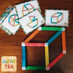 Game ideas for kids. See pics only. Not in English. Montessori Activities, Stem Activities, Infant Activities, Kindergarten Math, Learning Activities, Preschool Activities, Teaching Kids, Kids Learning, Projects For Kids