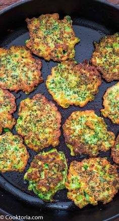 These light, golden-brown Broccoli Fritters make a delicious vegetarian dinner or lunch — and kids love them, too! Ready in less than 30 minutes. FOLLOW Cooktoria for more deliciousness! If you try my recipes - share photos with me, I ALWAYS check! Broccoli Fritters, Veggie Fritters, Clean Eating Recipes, Healthy Eating, Vegetarian Recipes, Healthy Recipes, Vegetable Recipes, Easy Recipes, How To Make Broccoli