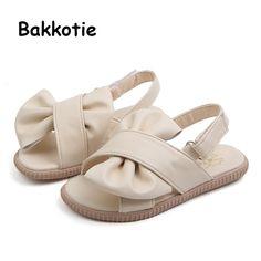 Kids Girls Princess Summer Suede Sandals Ankle Strap Non Slip Children Shoes New