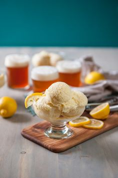 How about this for a weekend treat? We're whipping up lemon shandy ice cream with @thebeeroness on the blog!