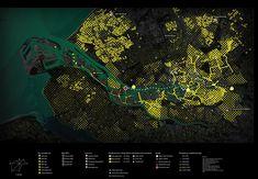 Urban Metabolism - Client: IABR, City of RotterdamYear: Rotterdam regionProgram: Regional heat network, sea - Landscape Plans, Urban Landscape, Landscape Design, Map Design, Site Design, Masterplan Architecture, Landscape Architecture, Architecture Diagrams, Architecture Portfolio