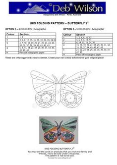 Butterfly 2 Iris Folding pattern