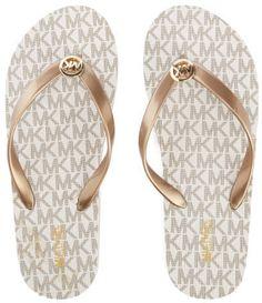 65ad5ab9ef850 MICHAEL MICHAEL KORS Women s MK Flip Flops Vanilla Zapatos Michael Kors