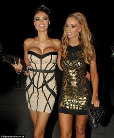 Here come the girls: Chloe Sims and Lauren Pope looked good in their outfits and showed off plenty of flesh