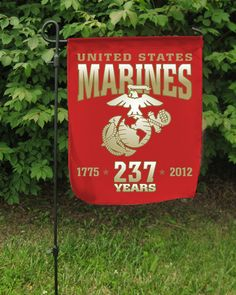 Marine Corps Sign Once A Marine, My Marine, Usmc, Marines, Marine Corps Birthday, Garden Flags, Military, Semper Fi, Sign