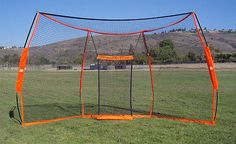 """Large Baseball Practice Net Bownet Back Stop 9' 6"""" tall x 17' 6"""" wide Multi Pur"""