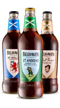 Our Beers We brew an astonishing range of beers, from clean crisp pilsners to rich sticky oat stout; and not forgetting Scotland's Best-Loved Best. Every single one of them is brewed here at Belhaven Brewery, the home of Scottish brewing. Find out more about our range below