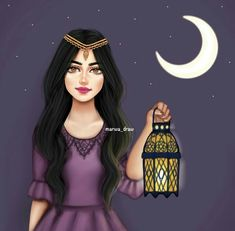 Image discovered by Karen Arroyo. Find images and videos about Ramadan on We Heart It - the app to get lost in what you love. Ramadan Cards, Ramadan Images, Beautiful Girl Drawing, Cute Girl Drawing, Girly M Instagram, Nature Instagram, Muslim Images, Sarra Art, Girl Cartoon Characters