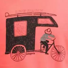 Trike by Patagonia outdoor clothing and stuff. This is on one of their great tee's