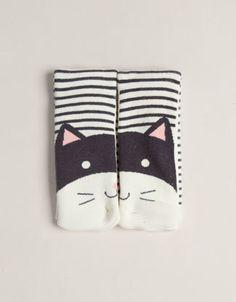 Long cat face pattern socks - Socks - Accessories - United Kingdom