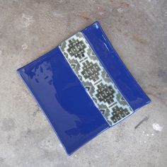 Cobalt blue glass plate Fused glass plate by mediumstomasses, $36.00