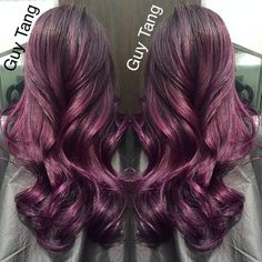 Midnight berry obsession I did last night! I love deep rich amethyst tones! #guytang #guytanghair style using @aghair texture spray and spray varnish amaZing client @kkarmalove