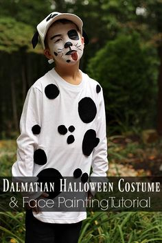Need some Halloween costume inspiration? See how I put together this easy Dalmatian costume using items I had around the house and Snazaroo face paint! & dalmatian costume ideas for boys - Google Search | Halloween ...