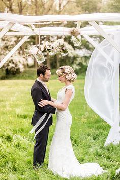 Romantic rustic inspiration for a garden wedding