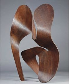 A HIGHLY IMPORTANT AND UNIQUE PLYWOOD SCULPTURE, 1943  BY CHARLES & RAY EAMES