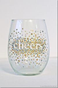 DIY Dot Wine Glasses!