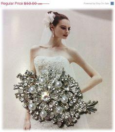 Bridal jewelry Wedding jewelry bridal brooch by BijouxandCouture, $35.00