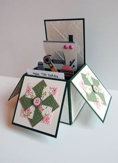 Card in a Box for a quilter