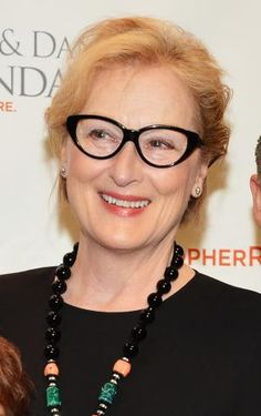20 Tips to Picking Frames for Glasses After Age 50: Meryl Streep looks younger with dark frames in a youthful shape