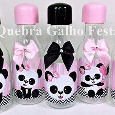 Garrafinha Panda Rosa Claro - Pet 50ML Panda Birthday Party, Panda Party, Baby First Birthday, Birthday Parties, Panda Bear Cake, Panda Decorations, Panda Love, Ideas Para Fiestas, Fiesta Party