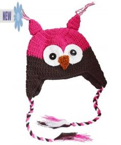 Hoot hoot! So very cute! Owl crochet stocking cap $6.99!