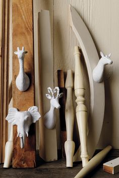 I want the giraffe and elephant hooks in my front hallway, mounted down low so my kiddos can hang their coats on them.