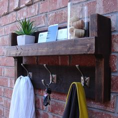 Hey, I found this really awesome Etsy listing at https://www.etsy.com/listing/161783375/rustic-entryway-foyer-3-hanger-hook-coat