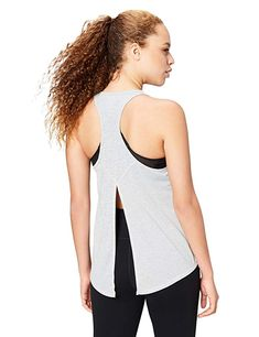 aeaad7af29784 Core 10 Women s  Lighter Than Air  Performance Tie Tank Light Grey Heather