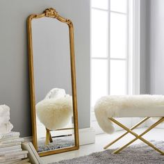 Ornate Filigree Mirrors - Pottery Barn Teen Give your space a luxe refresh with our Ornate Filigree Wall Mirrors. Elegant details grace the top of the brass frame for a stylish vintage look. Boutique Interior, Anthropologie Mirror, Spiegel Design, Pottery Barn Teen, Suites, Home And Deco, Bed Styling, New Room, Bedroom Decor