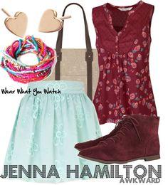 "Wear What You Watch • Ashley Rickards as Jenna Hamilton from ""Awkward"" -..."