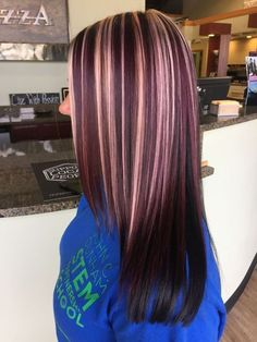 Hair Color Ideas: Best Hairstyles for Maroon Hair (March -, . Burgundy Hair Color Ideas: Best Hairstyles for Maroon Hair (March -, Burgundy Hair Color Ideas: Best Hairstyles for Maroon Hair (March -, Balayage Brunette, Hair Color Balayage, Brunette Color, Haircolor, Purple Balayage, Blonde Color, Maroon Hair, Blonde Hair With Highlights, Burgundy Highlights