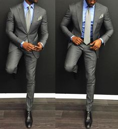 Discover the top 30 best charcoal grey suit with black shoes styles for men. Explore unique men's fashion ideas and inspiration for creating a dapper look. Sharp Dressed Man, Well Dressed Men, Traje Slim, Style Gentleman, Terno Slim, Moda Formal, Look Man, Herren Outfit, Men's Suits