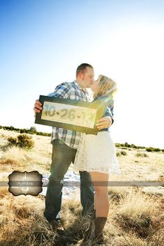 Engagement Picture Idea, Rustic, Country Arizona Engagement , Save the Date