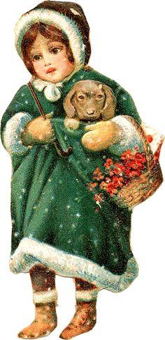 papers.quenalbertini: Vintage Christmas Girl Image - Zibi Vintage Scrap