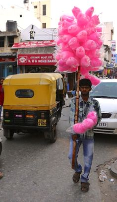 #Cotton #Candy seller in #Bengaluru #Street #Food #India #ekPlate #ekplatecottoncandy