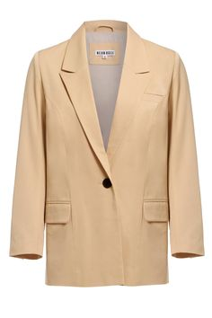 "<p style=""text-align: center;"">Ditch the dress and suit up in this nude masculine cut tux blazer with full lining and a contrasting, single button fastening.</p>"