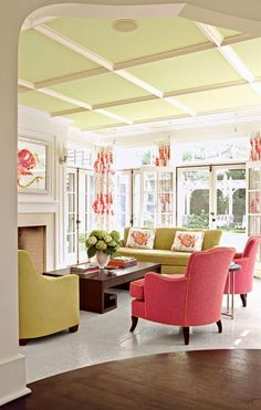 Michelle - Blog #Home #color: #Pink  Fonte : http://www.inspiredbythis.com/2012/07/inspired-by-this-chic-pink-and-green-minneapolis-home/?utm_source=feedburner&utm_medium=email&utm_campaign=Feed%3A+InspiredByThis+%28Inspired+By+This%29