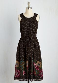 Zest of Both Worlds Dress. Though you love the sassy feel of a dotted dress, you also love the sweetness of a floral frock. #multi #modcloth