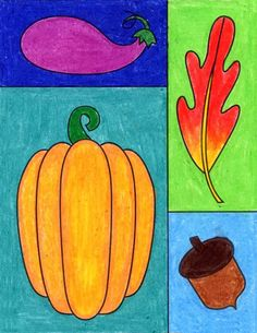 Fall Drawing Ideas: How to make a Fall Grid · Art Projects for Kids