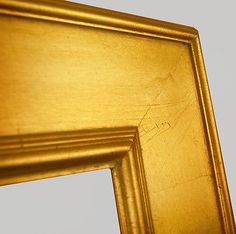 awesome PICTURE FRAME WOOD CONTEMPORARY PLEIN AIR ART CANVAS PHOTO FLAT 3 34 WIDE GOLD - For Sale
