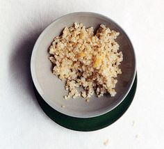 Lemon-Scented Quinoa - this looks great to have on for just a pick-me-up snack!