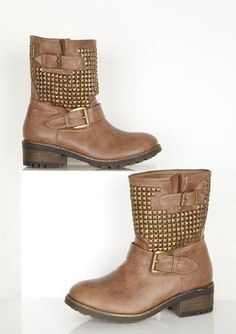 These studded boots are pretty stinkin cute!